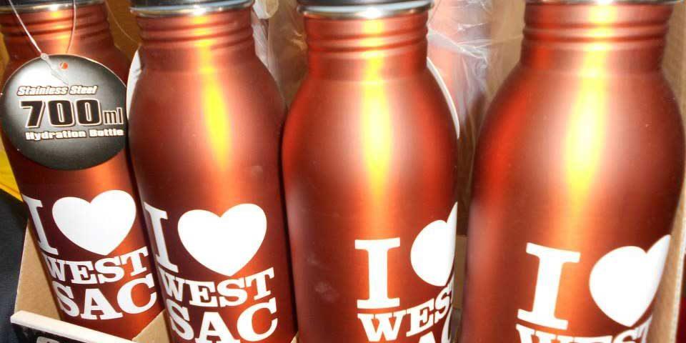 I Love West Sac bottles