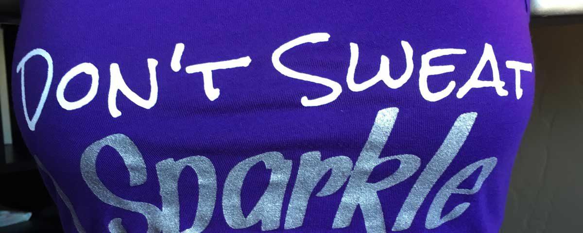Don't Sweat, Sparkle Tank
