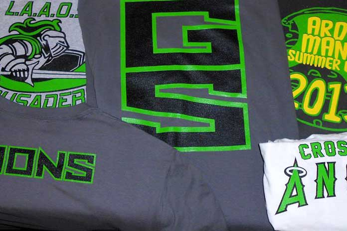 Lime and Black T-shirts
