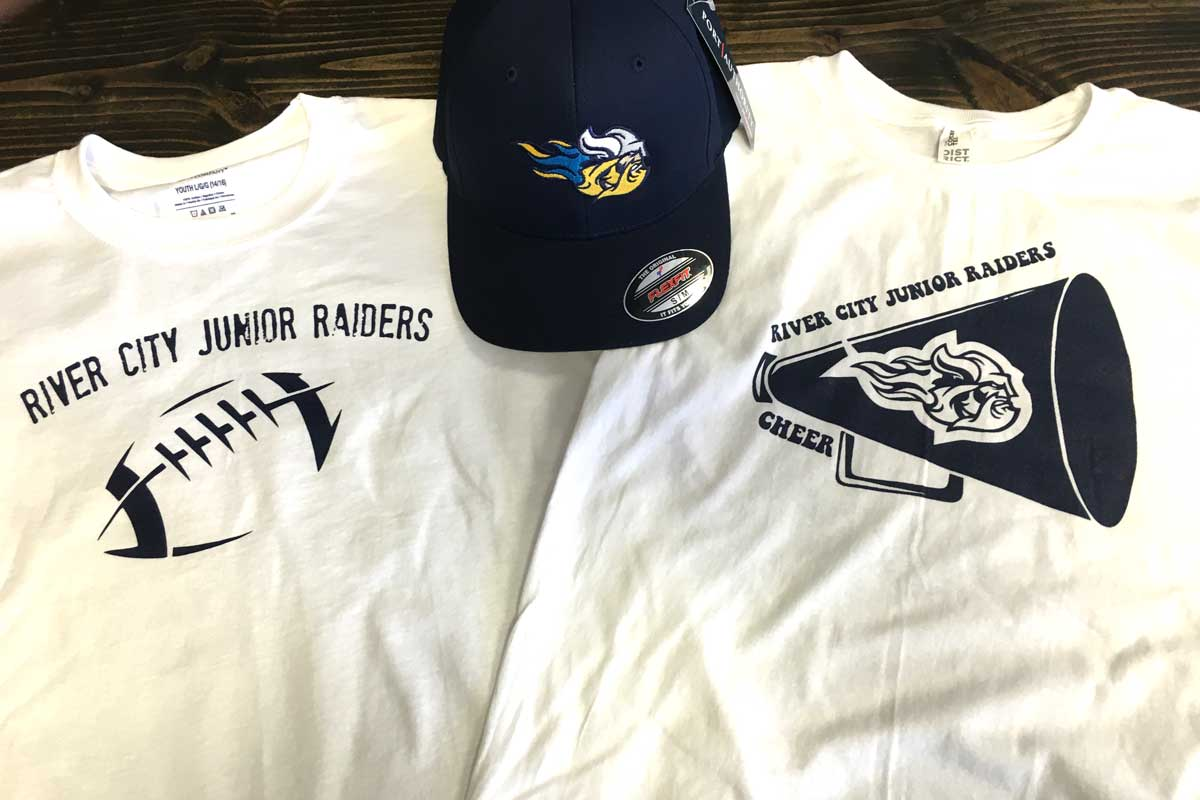 River City Raiders T-shirts and hat